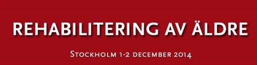 Rehabilitering av äldre 1-2 december 2014